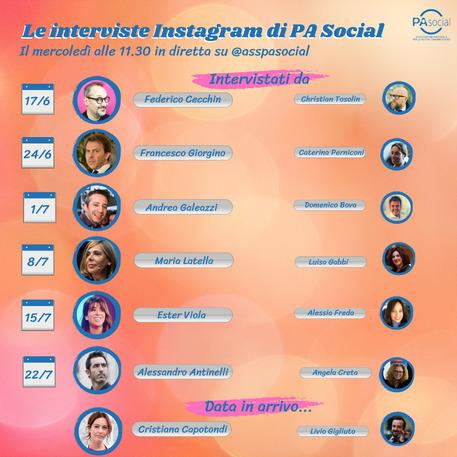 Le interviste su Instagram di PA Social