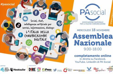 L'Assemblea Nazionale PA Social il 18 novembre