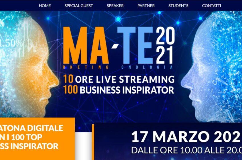 MA-TE 2021: la prima maratona digitale dedicata a marketing e tecnologia