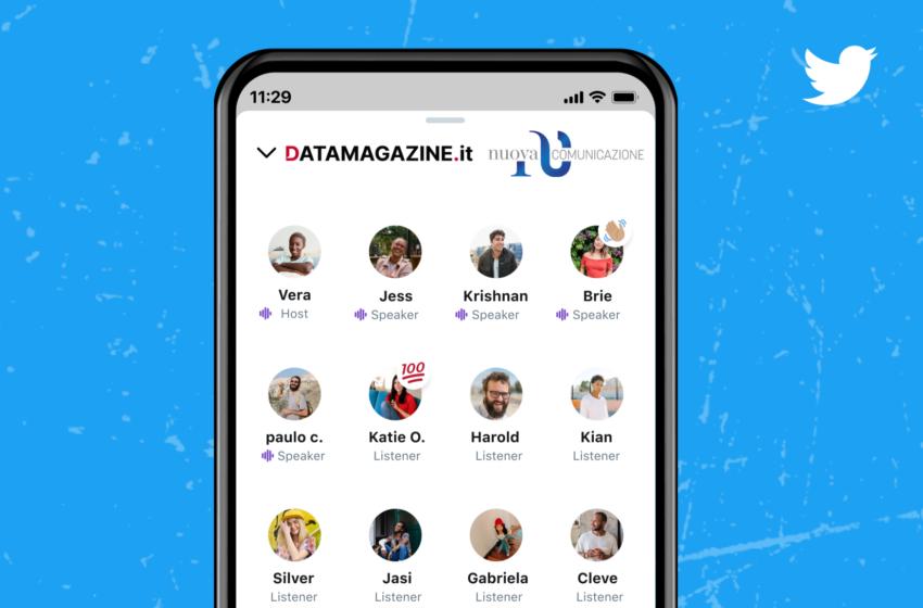 Twitter Spaces: parte oggi una nuova collaborazione tra Datamagazine.it e CittadinidiTwitter