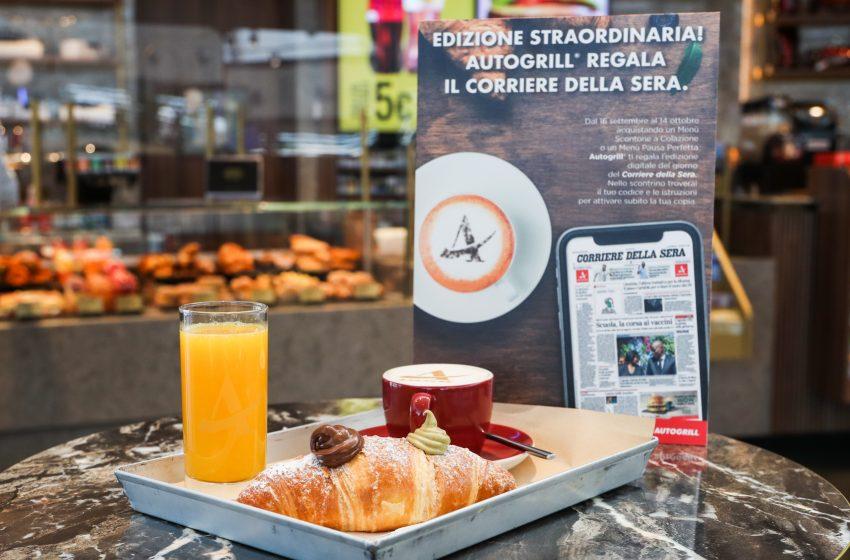 Autogrill e Corriere della Sera: nuova partnership digitale